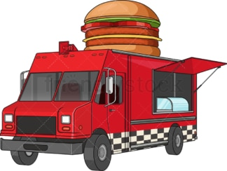 Hamburger food truck. PNG - JPG and vector EPS file formats (infinitely scalable). Image isolated on transparent background.