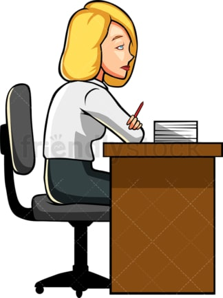 Woman feeling like skipping work. PNG - JPG and vector EPS file formats (infinitely scalable). Image isolated on transparent background.