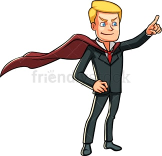 Businessman with superhero cape. PNG - JPG and vector EPS file formats (infinitely scalable). Image isolated on transparent background.