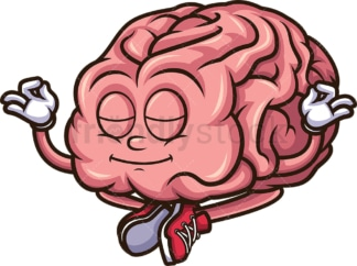 Calm mind meditating brain. PNG - JPG and vector EPS (infinitely scalable).