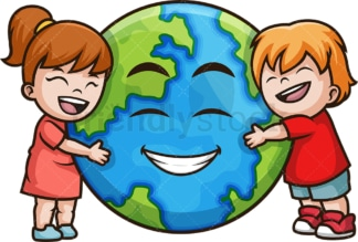 Earth day kids. PNG - JPG and vector EPS file formats (infinitely scalable). Image isolated on transparent background.