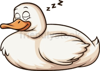 Sleeping duck. PNG - JPG and vector EPS (infinitely scalable).