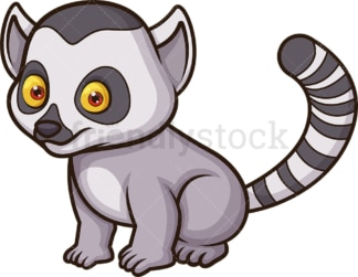 Baby lemur. PNG - JPG and vector EPS (infinitely scalable).