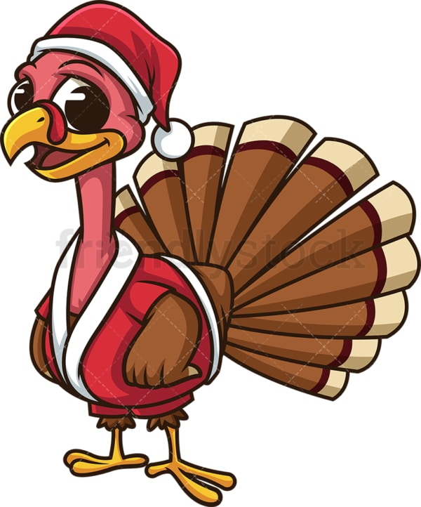 Christmas turkey. PNG - JPG and vector EPS (infinitely scalable). Image isolated on transparent background.