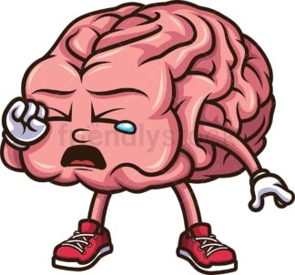 Crying brain. PNG - JPG and vector EPS (infinitely scalable).