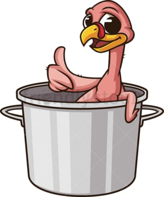 Featherless turkey in a pot. PNG - JPG and vector EPS (infinitely scalable).