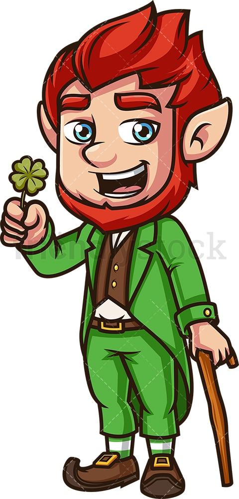 Leprechaun without hat. PNG - JPG and vector EPS (infinitely scalable).