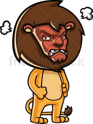 Mean lion with red angry face. PNG - JPG and vector EPS (infinitely scalable).