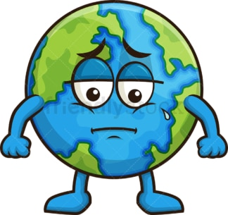 Sad earth. PNG - JPG and vector EPS (infinitely scalable).