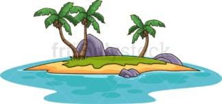 Smal tropical island. PNG - JPG and vector EPS (infinitely scalable).