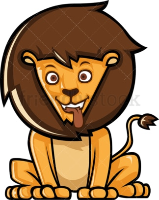 Friendly lion. PNG - JPG and vector EPS (infinitely scalable).