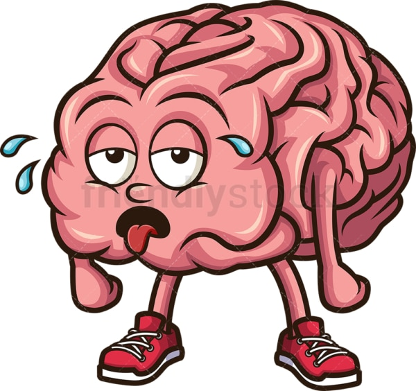 Tired brain. PNG - JPG and vector EPS (infinitely scalable).