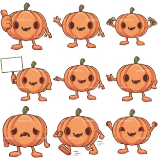 Cartoon jack o lantern. PNG - JPG and infinitely scalable vector EPS - on white or transparent background.