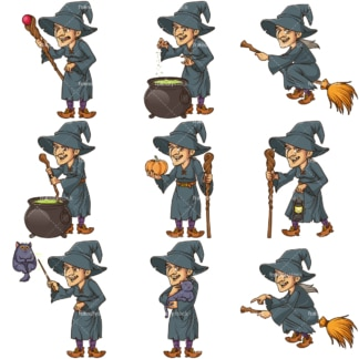 Evil witch. PNG - JPG and infinitely scalable vector EPS - on white or transparent background.