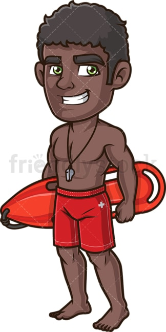Black lifeguard. PNG - JPG and vector EPS (infinitely scalable). Image isolated on transparent background.