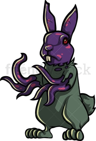 Bunny rabbit zombie. PNG - JPG and vector EPS (infinitely scalable).