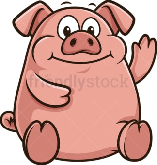 Chubby pig. PNG - JPG and vector EPS (infinitely scalable).