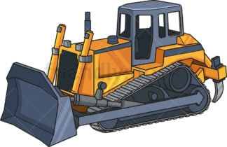Realistic bulldozer. PNG - JPG and vector EPS file formats (infinitely scalable). Image isolated on transparent background.