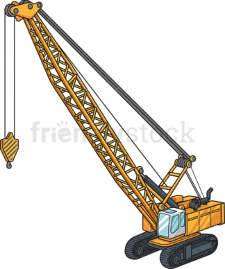 Realistic mobile crane. PNG - JPG and vector EPS file formats (infinitely scalable). Image isolated on transparent background.