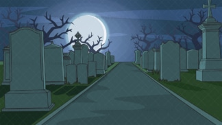 Graveyard at night background in 16:9 aspect ratio. PNG - JPG and vector EPS file formats (infinitely scalable).
