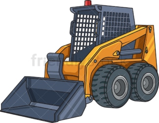 Realistic skid steer loader. PNG - JPG and vector EPS file formats (infinitely scalable). Image isolated on transparent background.