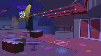 Disco nightclub dance floor background in 16:9 aspect ratio. PNG - JPG and vector EPS file formats (infinitely scalable).