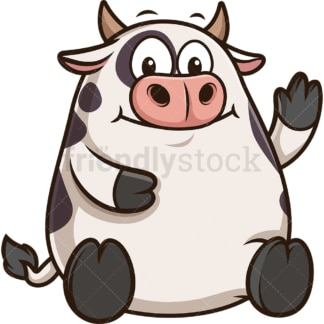 Chubby cow. PNG - JPG and vector EPS (infinitely scalable).