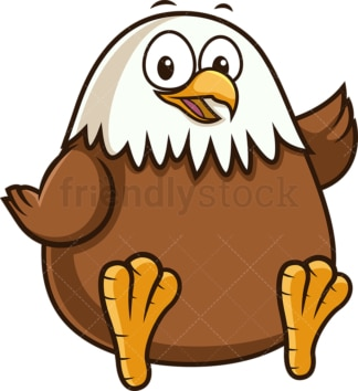 Chubby eagle. PNG - JPG and vector EPS (infinitely scalable).