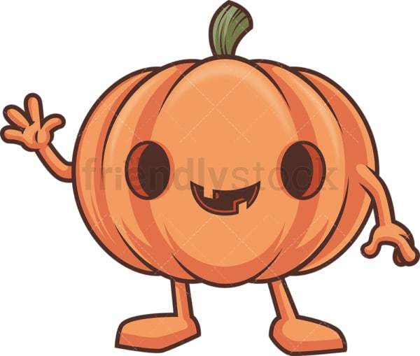 Jack o lantern waving. PNG - JPG and vector EPS (infinitely scalable).