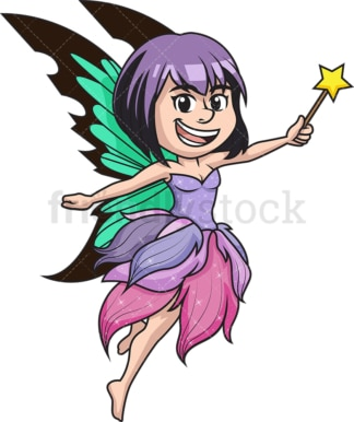 Fairy with wand. PNG - JPG and vector EPS (infinitely scalable).