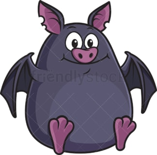 Chubby bat. PNG - JPG and vector EPS (infinitely scalable).