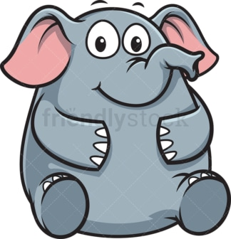 Chubby elephant. PNG - JPG and vector EPS (infinitely scalable).