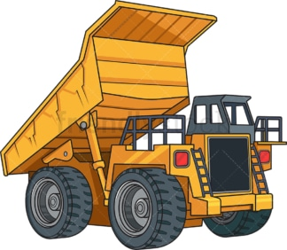 Realistic dump truck. PNG - JPG and vector EPS file formats (infinitely scalable). Image isolated on transparent background.