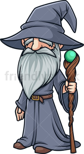 Wizard with beard. PNG - JPG and vector EPS (infinitely scalable).
