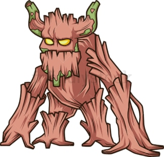 Enchanted forest monster. PNG - JPG and vector EPS (infinitely scalable).