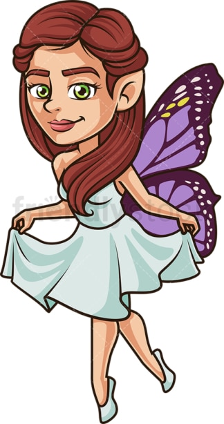 Fairy princess bowing gracefully. PNG - JPG and vector EPS (infinitely scalable).