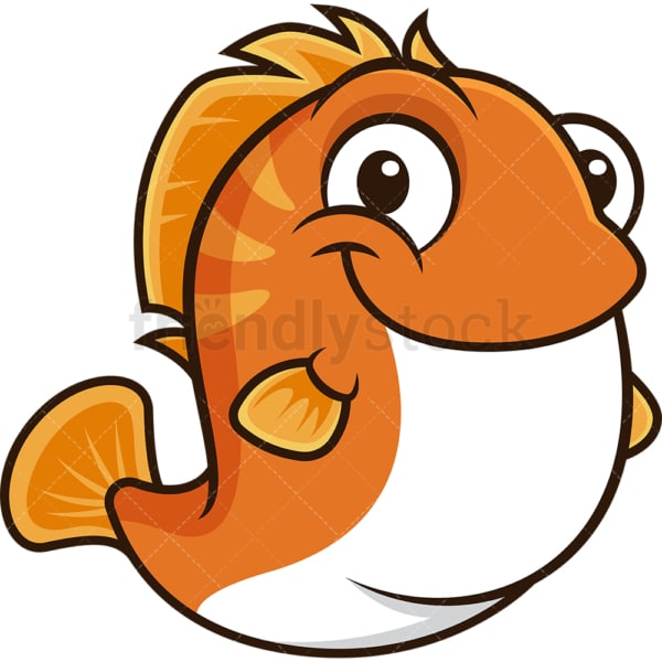 Chubby fish. PNG - JPG and vector EPS (infinitely scalable).