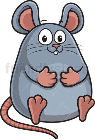 Chubby mouse. PNG - JPG and vector EPS (infinitely scalable).