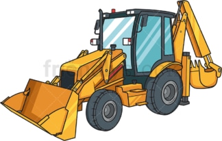 Realistic backhoe. PNG - JPG and vector EPS file formats (infinitely scalable). Image isolated on transparent background.