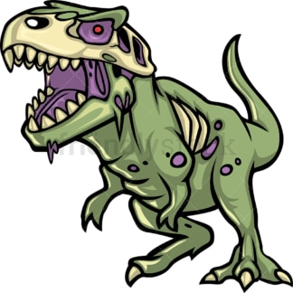 T-Rex dinosaur zombie. PNG - JPG and vector EPS (infinitely scalable).