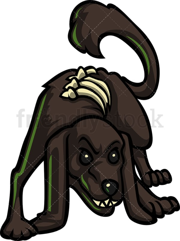 Angry dog zombie. PNG - JPG and vector EPS (infinitely scalable).