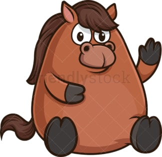Chubby horse. PNG - JPG and vector EPS (infinitely scalable).