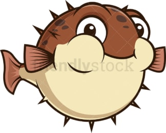 Chubby pufferfish. PNG - JPG and vector EPS (infinitely scalable).