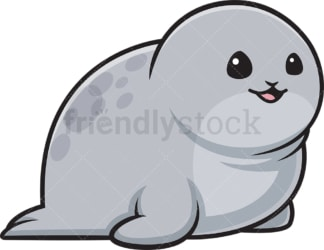 Chubby seal. PNG - JPG and vector EPS (infinitely scalable).