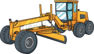 Grader construction vehicle. PNG - JPG and vector EPS file formats (infinitely scalable). Image isolated on transparent background.