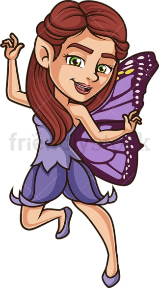 Happy fairy. PNG - JPG and vector EPS (infinitely scalable).