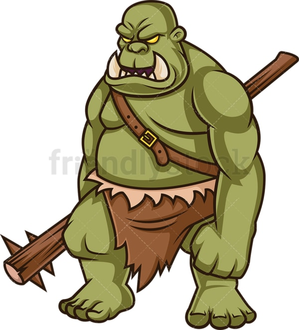 Male orc warrior. PNG - JPG and vector EPS (infinitely scalable).