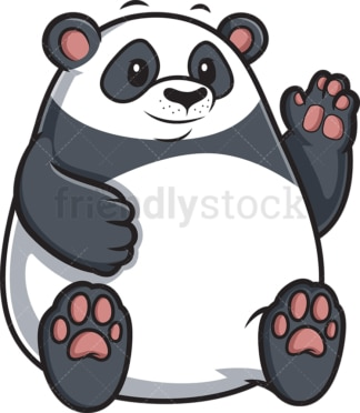 Chubby panda. PNG - JPG and vector EPS (infinitely scalable).