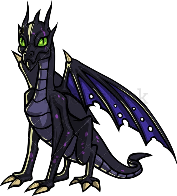 Flying dragon zombie. PNG - JPG and vector EPS (infinitely scalable).