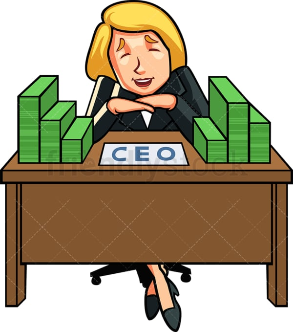 Successful female ceo. PNG - JPG and vector EPS file formats (infinitely scalable). Image isolated on transparent background.